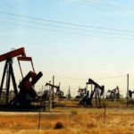 Photo of numerous oil pumps in California