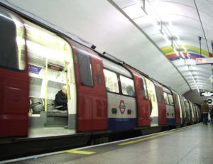 Image of London underground train